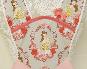 Belle Apron / Beauty and the Beast Apron / Vintage Child's Apron /  Belle Birthday Party / Girls gift / Size 5/6 / Birthday Gift / #B-76