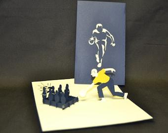 3-D Bowling Pop-Up Card