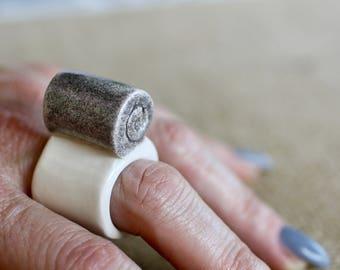 Handmade Ceramic Ring, Ceramic jewelry, Ceramic and Pottery, Gift