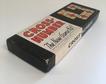 Cross-Number Game - Russell Manufacturing Company - Leicester Massachusetts USA - Copyright 1939
