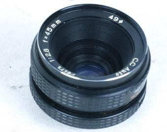 Petri CC auto 50mm f=2.8 lens, M42 mount, EXC++ condition.