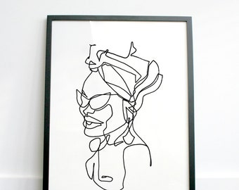 ROSIE - hand drawn continuous line print