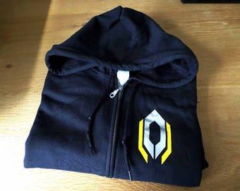 Mass Effect Cerberus logo full zip hooded sweatshirt