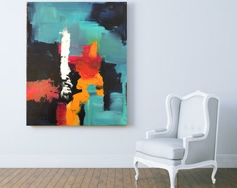 Contrast - Abstract art, abstract print, acrylic painting, wall art, home decor, gift