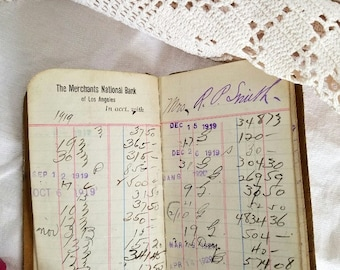 Bank Passbook – 1919-1929 – Leather – From Merchants' National Bank of Los Angeles