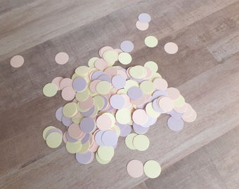 Unicorn Theme Party Confetti - (350 pieces) -  Pastel Confetti - Ice Cream Party - Spring Wedding - Light colors - Pink, Lilac, Yellow