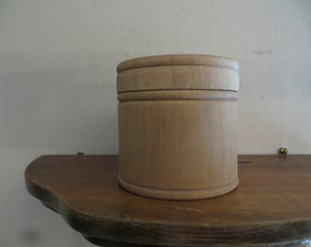 Old Wood Trinket Box Lidded Jewelry Keepsake Trinkets w/ free ship