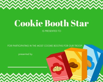 girl scout cookie booth tally sheet