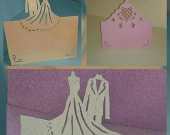 Handmade Wedding table card