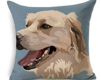 Golden Dog Pillow