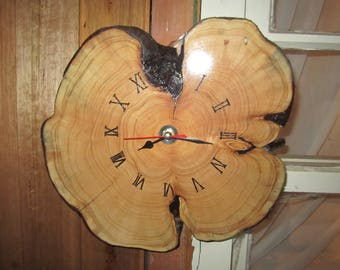 Log Slice Timber Clock