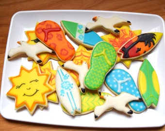 Summer Beach Cookie Cutter Set #1
