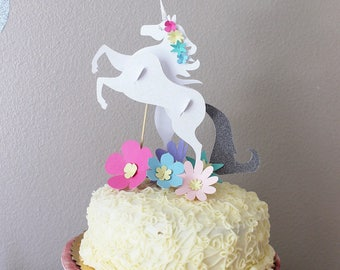 3D Unicorn Cake topper Set