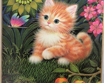 Vintage K Chin Picture Kitten Picture