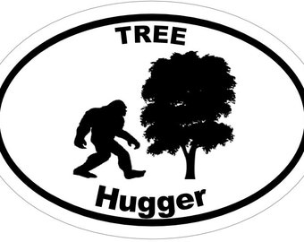 BIGFOOT Vinyl Decal sticker Tree Hugger YETI , Truck Decal ,Car Sticker, Environment gift, yeti gift, bigfoot gift