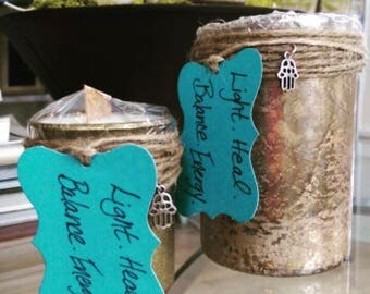 Intense Sweetgrass Healing Infused Candle