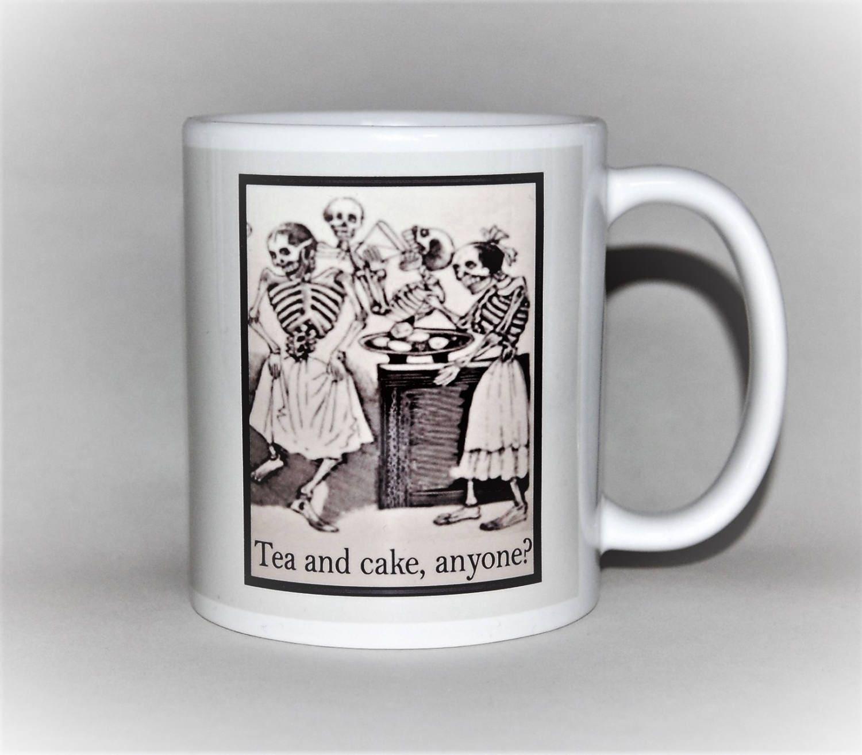 Tea And Cake Anyone Funny Mug Birthday Gift For Her Jose Posada