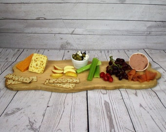 Wooden Serving Platter - Wood Chopping Board - Chopping Board - Bread Board - Cheese Board - Serving Board -Tray - Anniversary