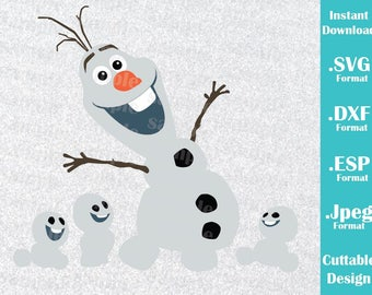 INSTANT DOWNLOAD SVG Disney Inspired Olaf from Frozen Movie for Cutting Machines Svg, Esp, Dxf and Jpeg Format Cricut Silhouette