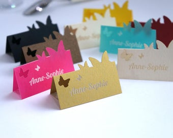 Lot of 12 place cards personalized