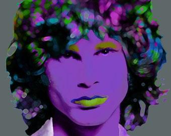 Jim Morrison - The Doors, Rock Artist, 60's Psychedelic Rock, Jim Morrison Print, Celebrity Portrait Prints, Pop/Rock Artists