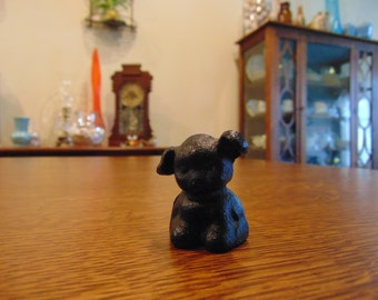 Vintage Solid Cast Iron Dog (free shipping)