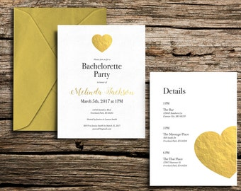 Printable Bachelorette Party Invitation (5x7)