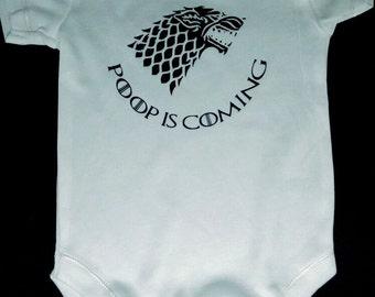 Game of Thrones inspired Baby Bodysuit - Poop is coming