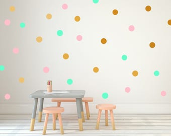 Polka Dots - Multicoloured - Nursery Kids Baby Room - Confetti Dots Wall Sticker Decor - Wall Pattern | PP100