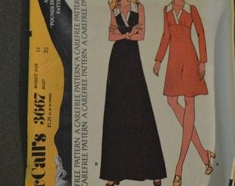 Vintage McCalls Pattern 3667-1973