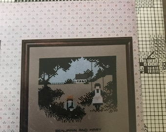 Vintage Told-In-A-Garden Amish Kids counted cross stitch designs