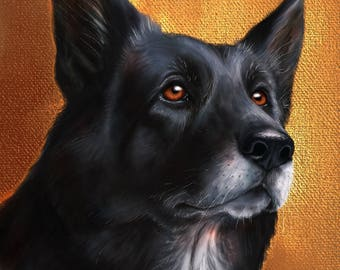 Pet Portrait. Custom Digital Pet Portrait. Portrait Painting.
