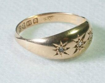 Edwardian 3 Stone Diamond Ring