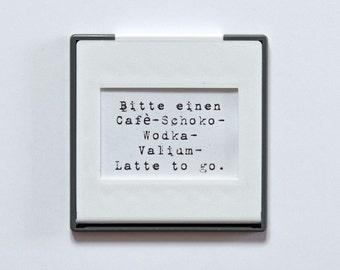 Slide frame magnet with saying