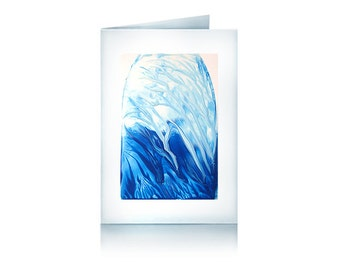Greeting card blue ease