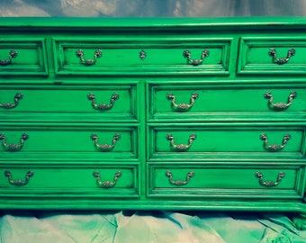 Aged Green Dresser