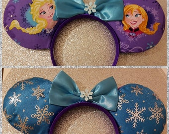 Frozen Sisters Inspired Mouse Ears Headband and Bows