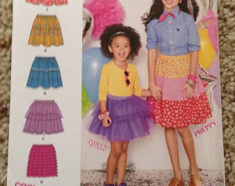 Simplicity 1816 Girls Skirt Size 7-14