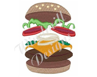 Cheese Burger - Machine Embroidery Design