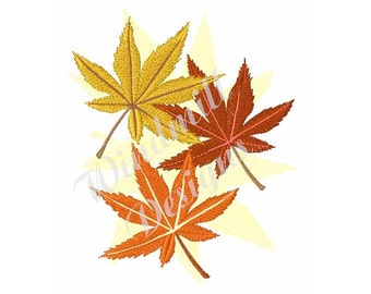 Maple Leaves - Machine Embroidery Design
