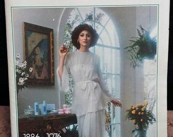 Vintage Avon. 1976 Avon Spring/Summer Catalog and Makeup Color Chart.