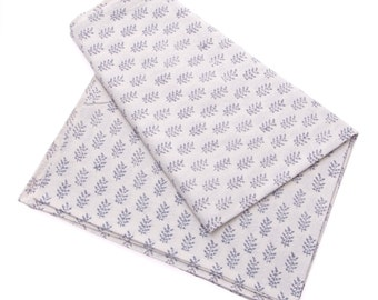 SALE - Grey block print tablecloth