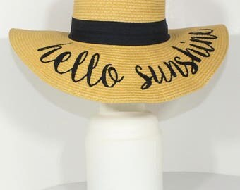 CC HAT - Sun hat hello sunshine genuine CC brand - Summer Esencial