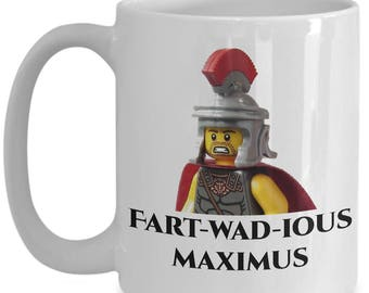 Farting Coffee Mug - Fart-wad-ious Maximus - 15oz Ceramic Farting Cup - Perfect Anniversary, Birthday or Holiday Gift For Farters