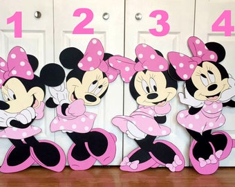 BUNDLE SALE! 2 FT Minnie or Mickey Mouse Cutout Standee Party Decor Photo Prop
