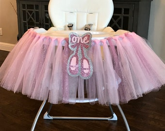 Ballerina High Chair Tutu - (1 ready to ship next business day, as pictured)