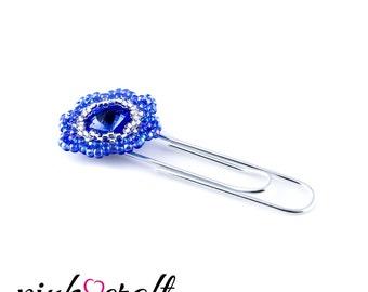 Floral Paper Clips Sapphire