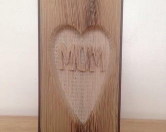 Mum cut & fold book art