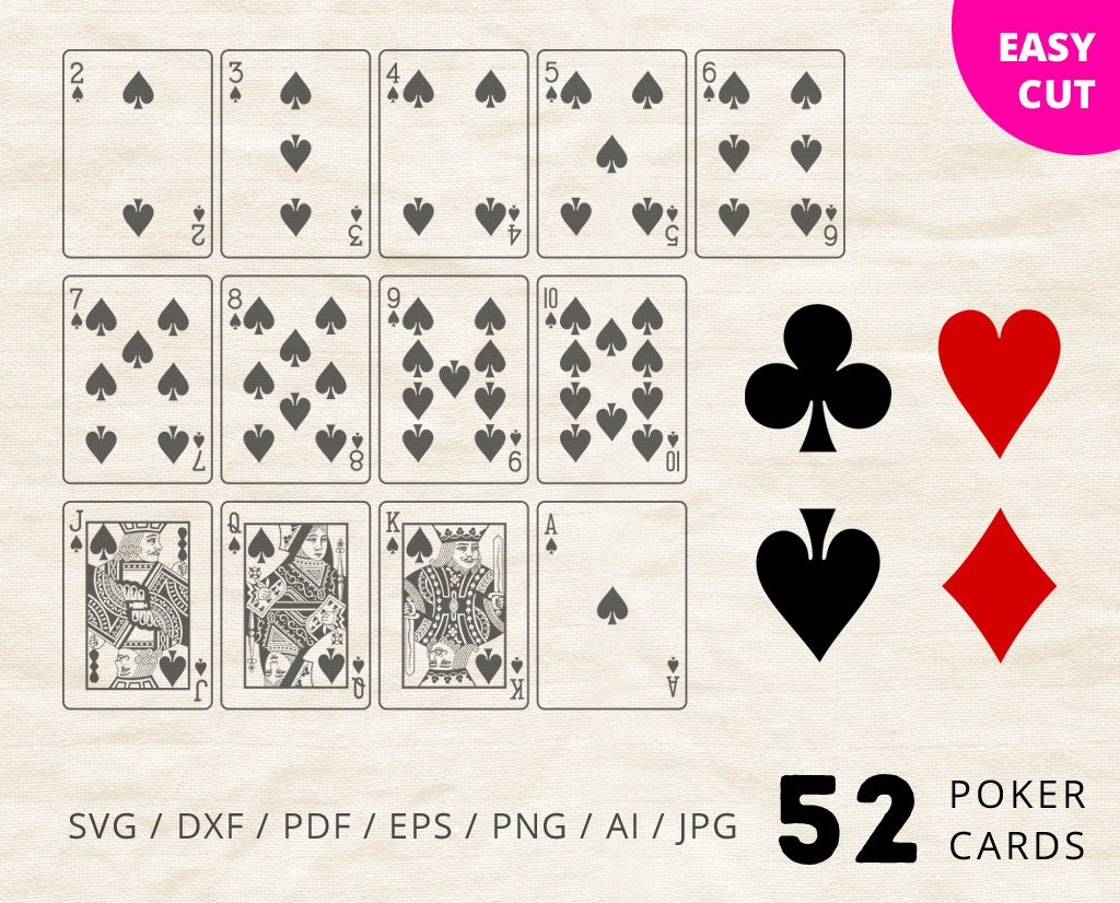 Playing Cards Svg Cut Files Poker Set Svg Clipart Download