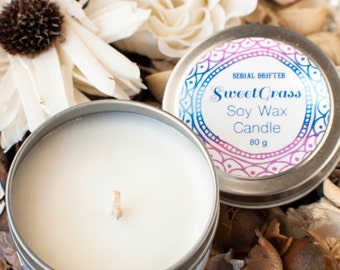 Sweetgrass soy wax candle